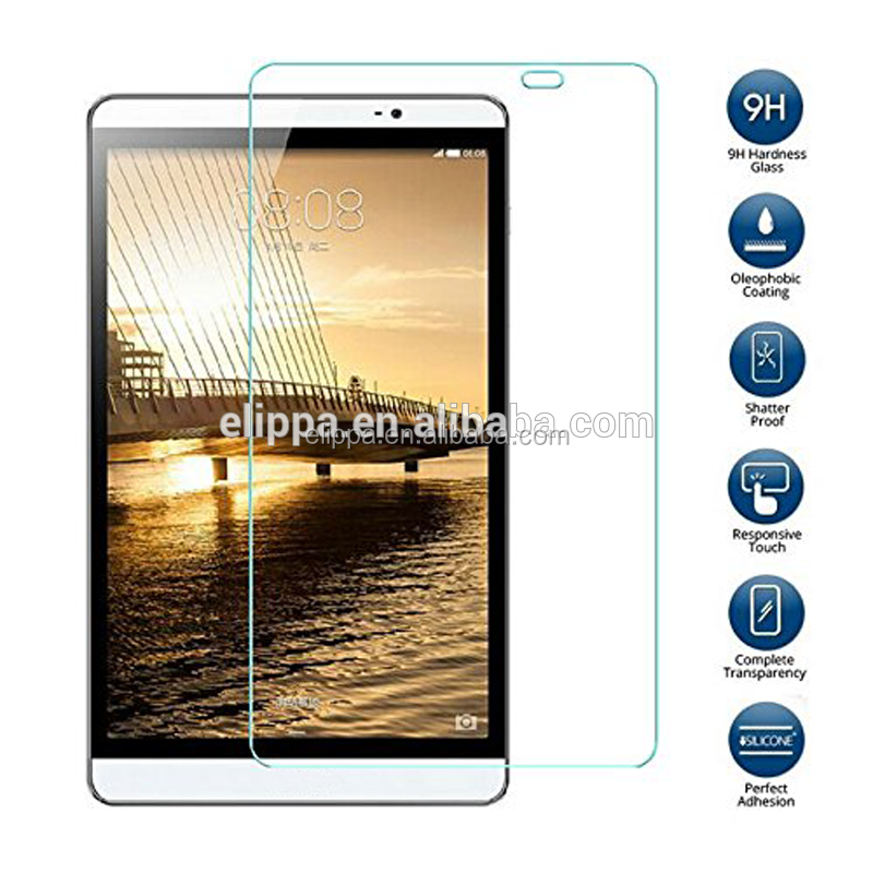 Perfect adhesion 9 hardness Tempered Glass responsive touch mobile phone screen protector for Huawi Mediapad M2 8inch