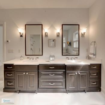 Hotel Bathroom Vanity With Double Sink