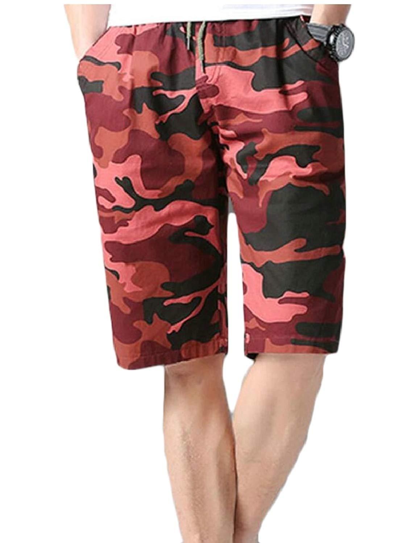 2ad191dbe6ceb Get Quotations · WSPLYSPJY Men's Beach Shorts Printing Camo Swim Trunks  with Pockets Quick Dry Casual Swim Shorts