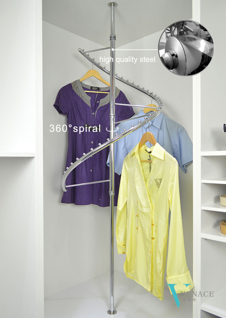 News Motorized Retracted Rotating Closet Clothes Rack