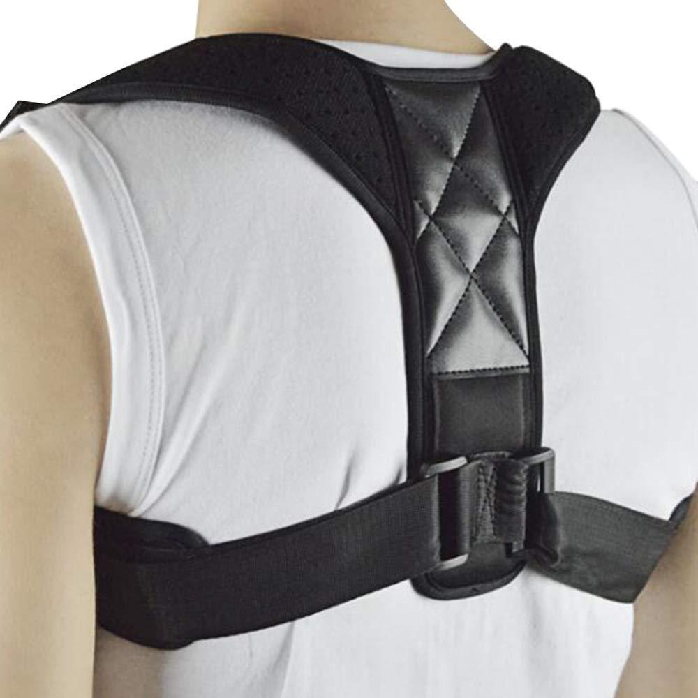 Denshine Back Support Posture Back Correction Belt Humpback Corrective Brace for Correct Posture Back Straightener Adjustable Clavicle Brace, L