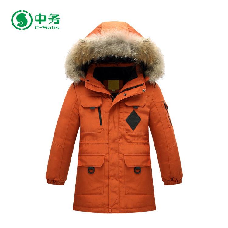 High Quality Security Windproof Children Winters Down Jackets For Boys