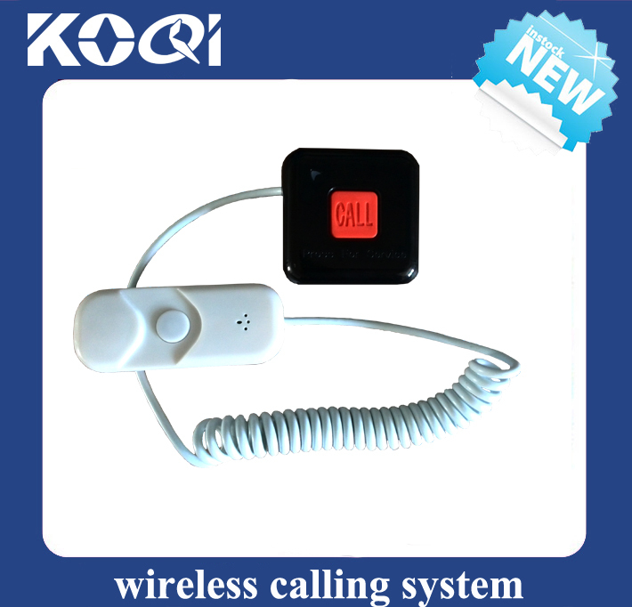 Wireless Nurse Pager System for Hospital by LED display pager watch pager ball bed button with alert sound and red