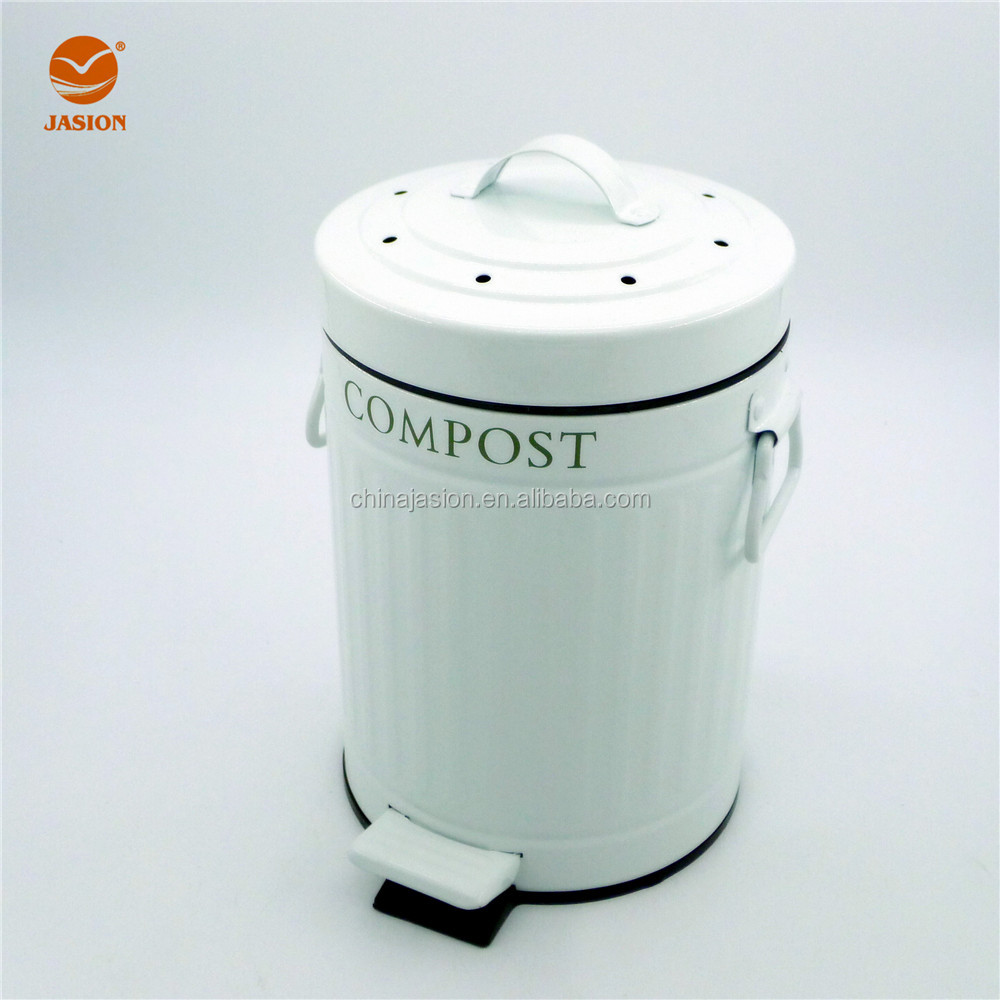 5 Liter Indoor Kitchen Pedal Compost Bin With Spare Filter - Buy ...