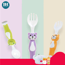Toy shape PP detachable Baby fork and spoon set EVA BPA free OEM