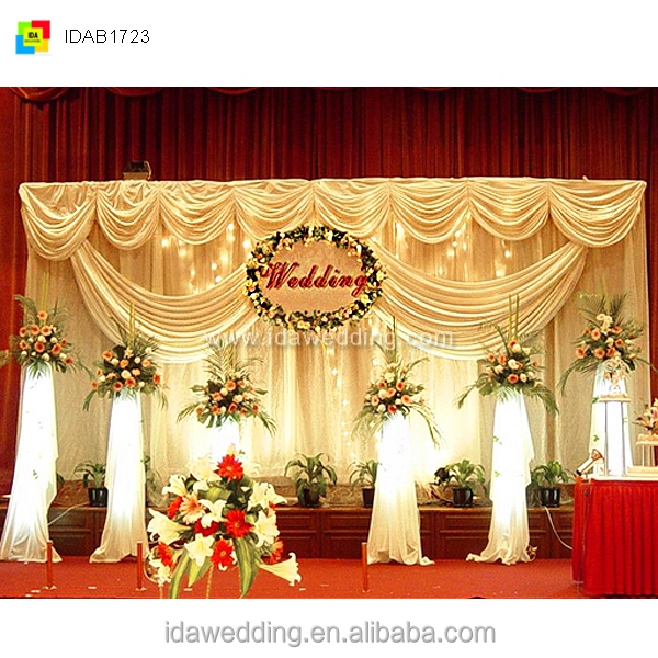 Curtains And Drapes/cheap Wedding Backdrop Design Sample/stage ...