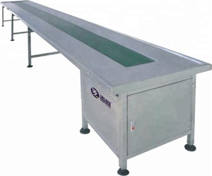 Table Top Convey Belt/Rubber Conveyor Belt/Types Of Tempered Glass Chain Belt Convey Systems