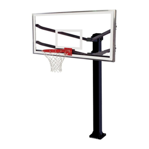 Custom professional ground fixation basketball stand hoop system