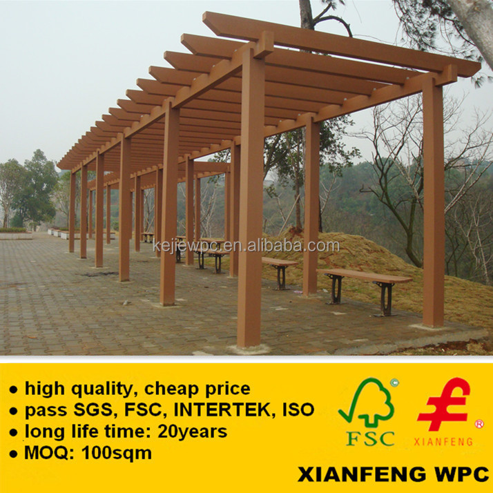 Best Factory Waterproof WPC Pergola Anti UV Wood Plastic Composite Boards  Pergola For Outdoor Garden - Best Factory Waterproof Wpc Pergola Anti Uv Wood Plastic Composite