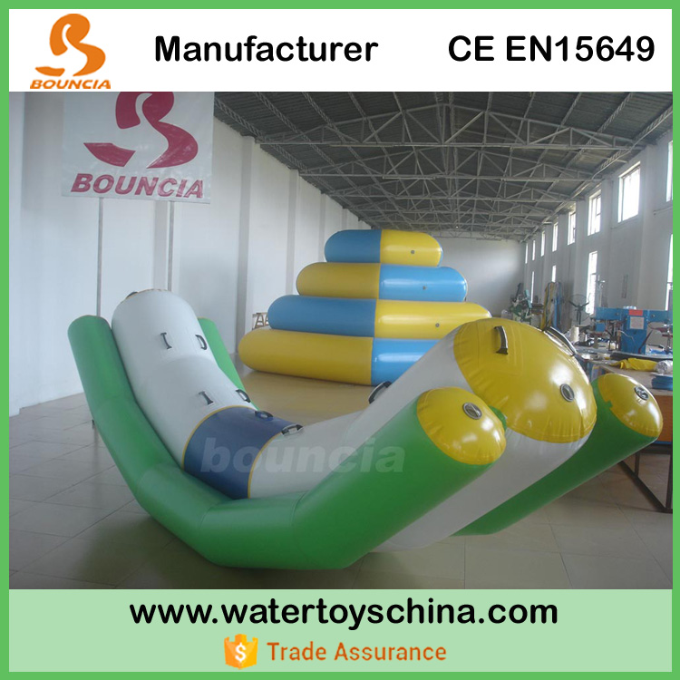 Bouncia Manufactures Inflatable Adult Seesaw For Water Park Games