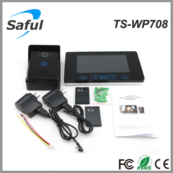 Chinese manufacturer Saful TS-WP708 waterproof 7 inch voip video phone , open door