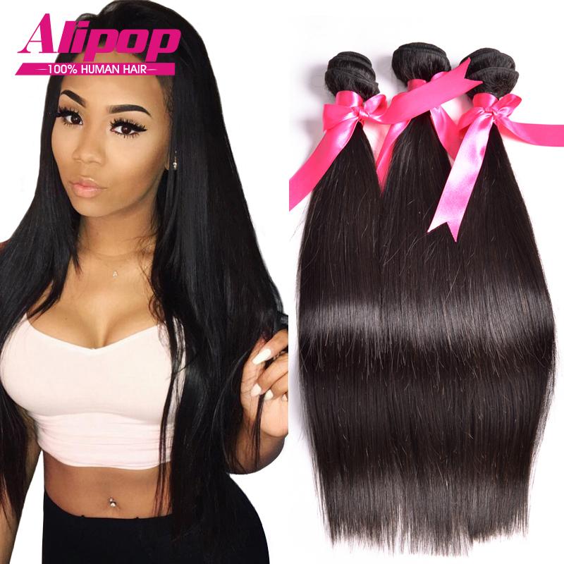 8A Unprocessed Peruvian Virgin Hair Straight 3 Bundles ...
