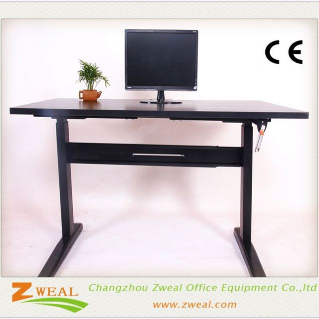 Modern Executive Desk Modular Office Furniture Adjule Drawing Table 3 Leg With Height