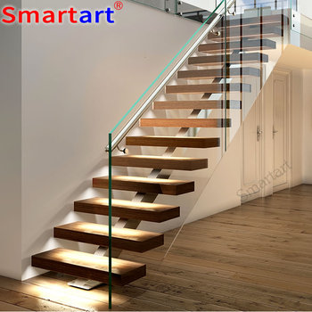 Cantilever Stairs /oak Tread Single Stringer Staircase - Buy Cantilever  Stairs,Copper Stair Railing,Stair Stringer Oak Product on Alibaba com