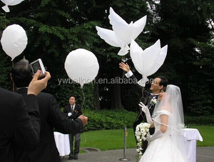 White dove balloon for wedding decoration