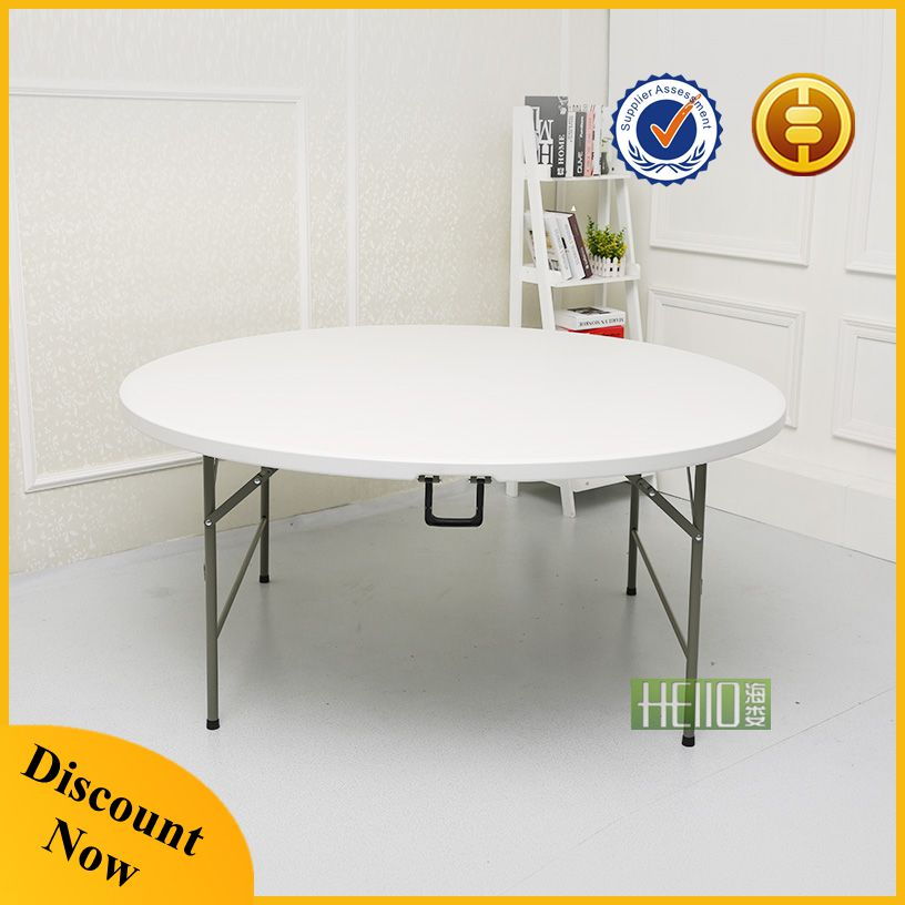 factory price blow mold waterproof 72 round banquet folding table