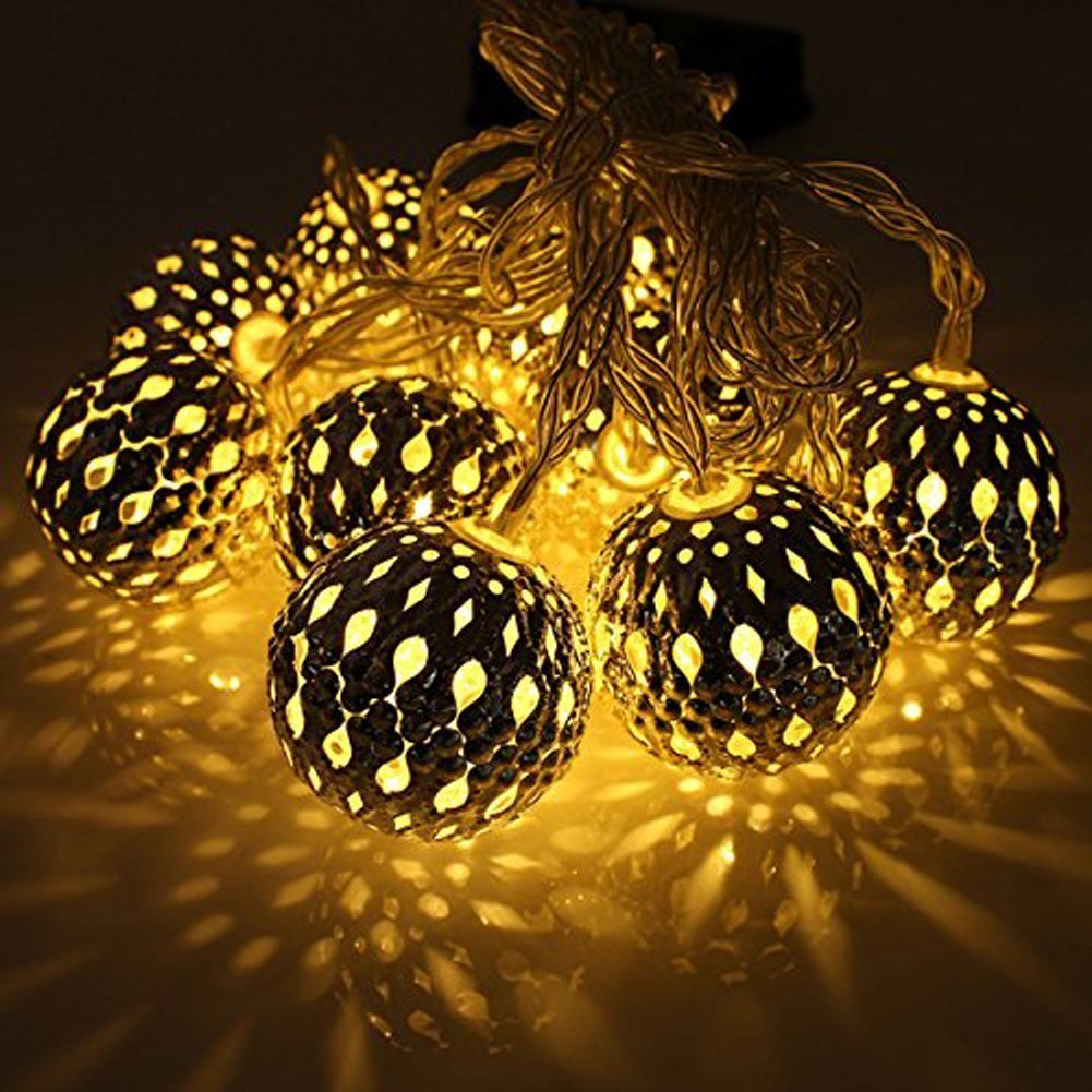 Cheap solar fairy lights outdoor warm white find solar fairy get quotations fund christmas party decorative lighting 10 moroccan solar powered string lanterns led garden fairy lights balls mozeypictures Image collections