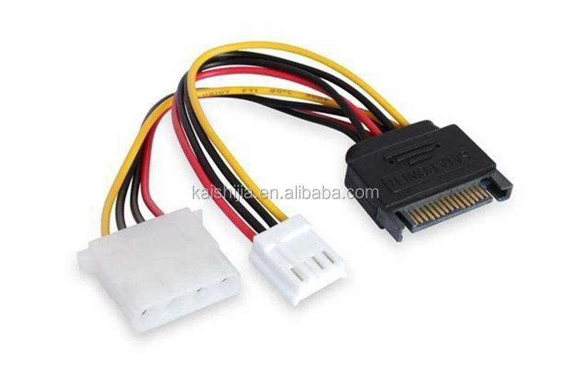 NEW 4 PIN Molex to SATA Power Adapter Cable CordExtension
