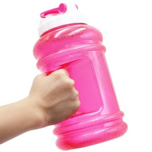 2018 2.2L water bottle shaker weights Big Plastic Dumbbell Shape Sport Shaker Water Bottle With Handle