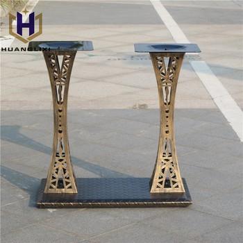 Antique Iron Steel Double Table