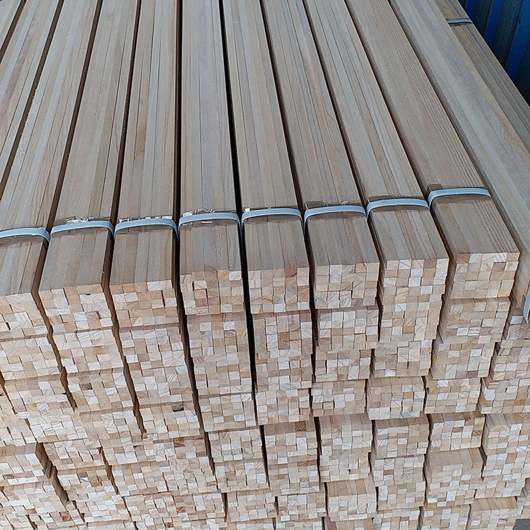 fast delivery paulownia wood strip wood edging strip