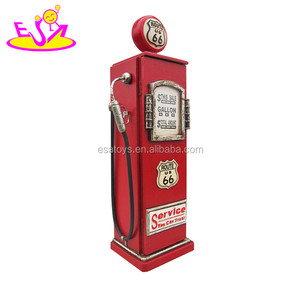 New design antique gas pump shape wooden coffee bar cabinet W08C217