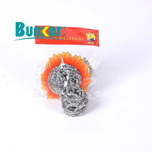 galvanized iron material spiral scourer for kitchen