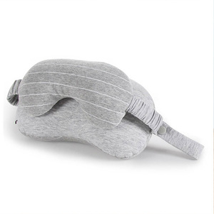 2019 wholesale foam particle U-shape pillow set,travel neck pillow with eye mask