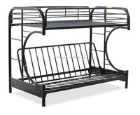 c shape spring metal sofa bunk bed