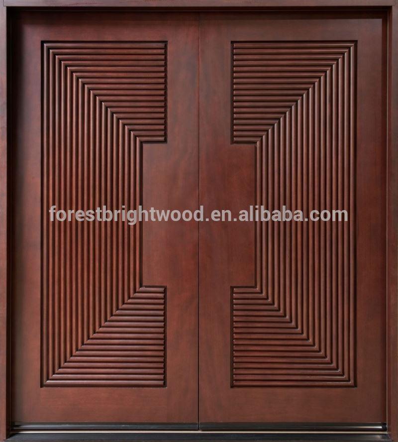 Exterior prehung caoba puerta de caoba s lida puerta de for Puertas madera exterior precios