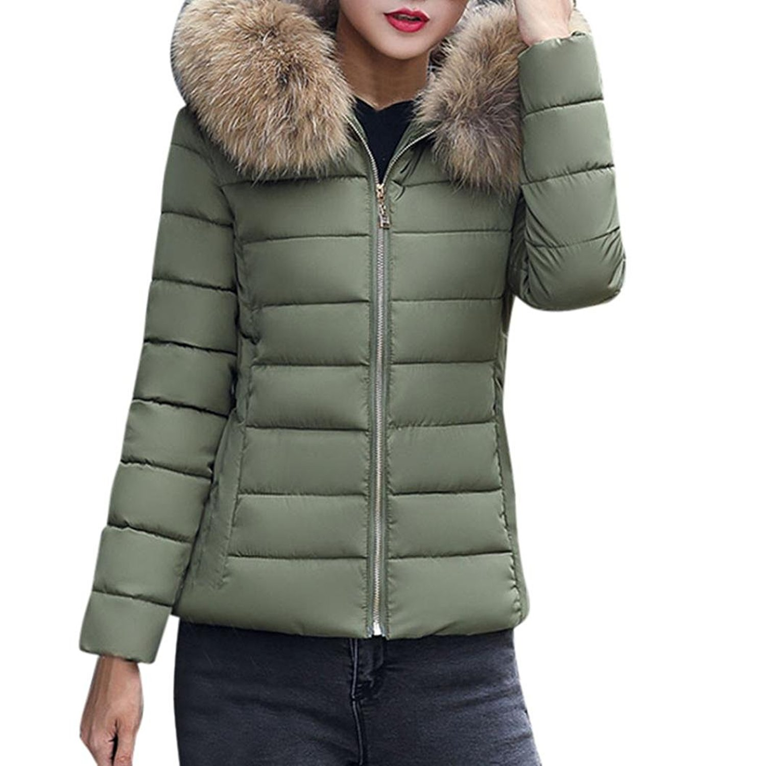 Wqueen Fashion Solid Women Casual Thicker Winter Slim Slim DownCoat Overcoat Casual Thicker Jacket