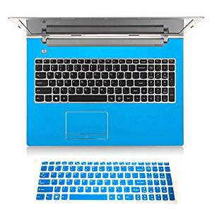 "2in1 Wrist Palm rest Touchpad Trackpad Skin+ Keyboard Cover Protector for 15.6"" Lenovo Z50 Z50-70 G50 G50-30 G50-45 G50-70 G50-80 (shimmery light blue palmrest sticker+semi-blue keyboard skin)"