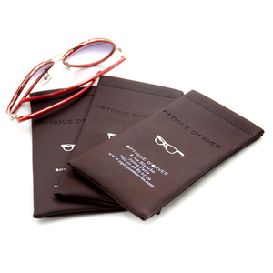 Light color microfiber soft pu pouch sunglasses leather case for customized logo