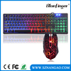 USB Wired LED Gaming Keyboard and Cool Crack Mouse Combo