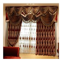china wholesale luxury home textiles ready-made fancy sun shade american jacquard window curtain