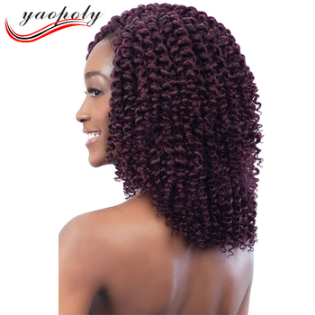 Hot selling 8-10Inch Jamaican Bounce Crochet Twist Braids Synthetic Model Jumpy Wand Curl Crochet Braid Hair Extensions