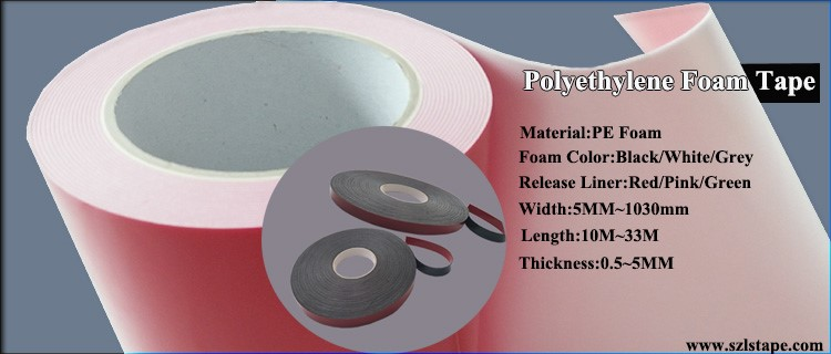 Ultra Thin Waterproof Pe Foam Tape Waterproof Acrylic
