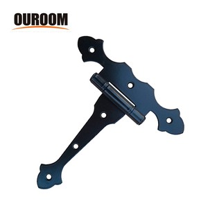 Ouroom/OEM Wholesale Products CustoXY960 Metal Long Heavy Ornamental Shed Door Strap T Hinges
