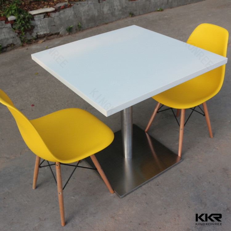 Acrylic Solid Surface Marble Top Dining Table Designs In India Water Resistant - Buy Coffee Shop