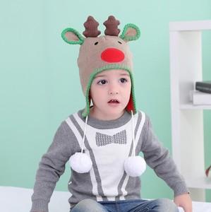 79faebda9be Autumn and winter knit hat cotton earmuffs baby warm hat