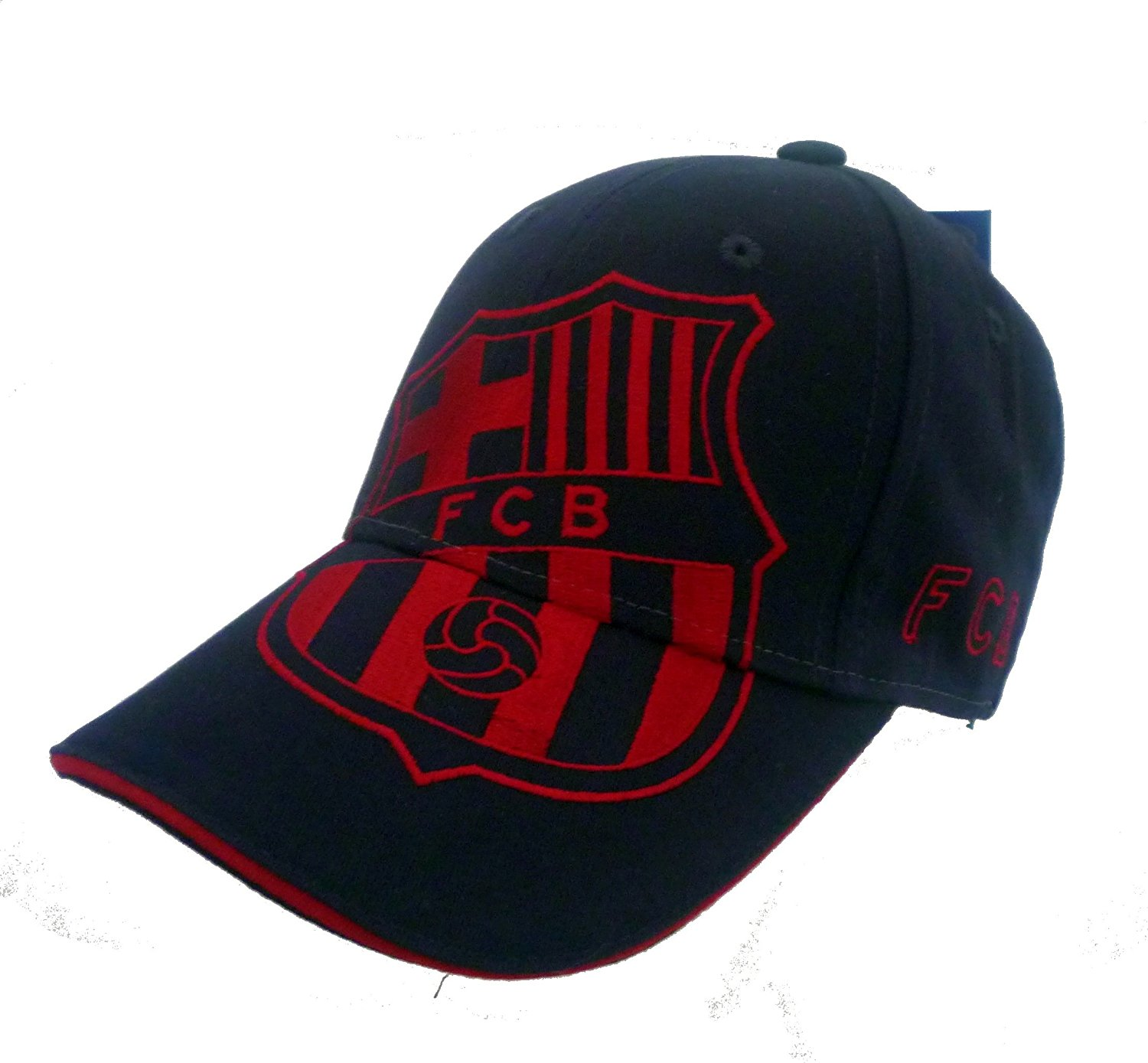 f6fbe0ace795d Get Quotations · Official Licensed GENIUNE FC Barcelona Large Logo  EMBROIDERED Navy Blue HIGH QUALITY One Size Cap Hat