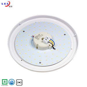 Surface mounted 15W 18W 22W modern round led ceiling light with emergency function