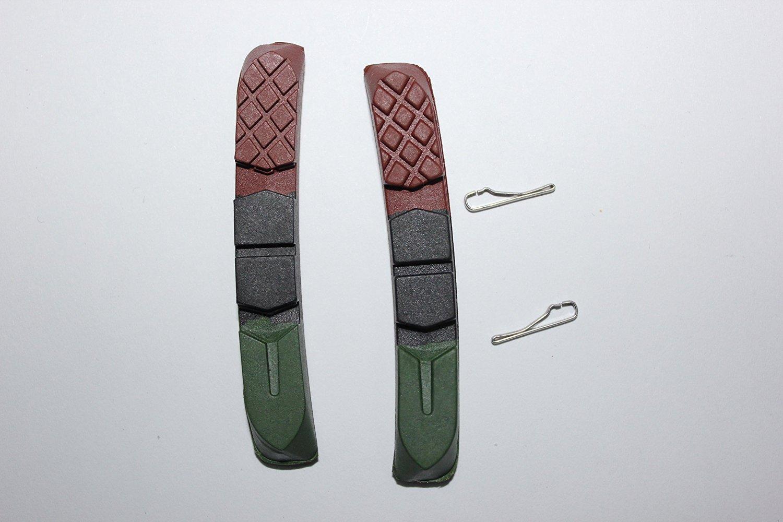 4 pairs of MTB v-brake pads rim brake pads for Shimano XTR/ Deore XT bicycle rim brake pad inserts 72mm length made in Taiwan