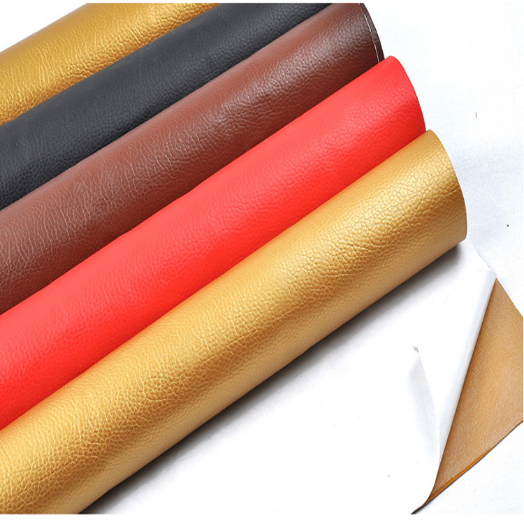 Soft litchi pattern artifical self adhesive <strong>leather</strong> for car seat sofa