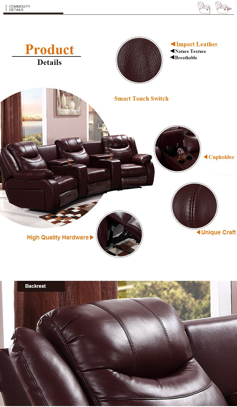 Cinema Sofa With Recliner Lazy Boy Sofa Bed Top Grain