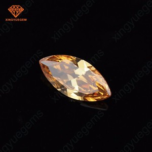 Hot Sale Champagne Color Marquise Raw Material Big Cubic Zirconia CZ stone