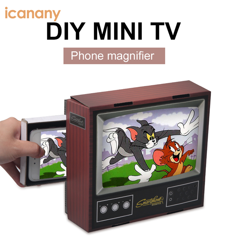 DIY MINI TV smartphone amplifier mobile phone Screen Magnifier with high quality