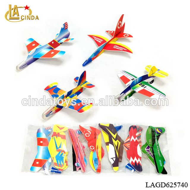 Cheap customized gifts, 3d puzzle mini foam diy plane model kids eps block toys