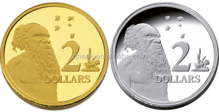 Real regional feature and folk art style plated gold Coin
