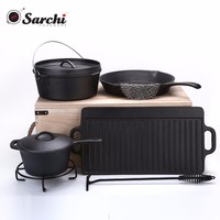 cast iron cookware camp cook set